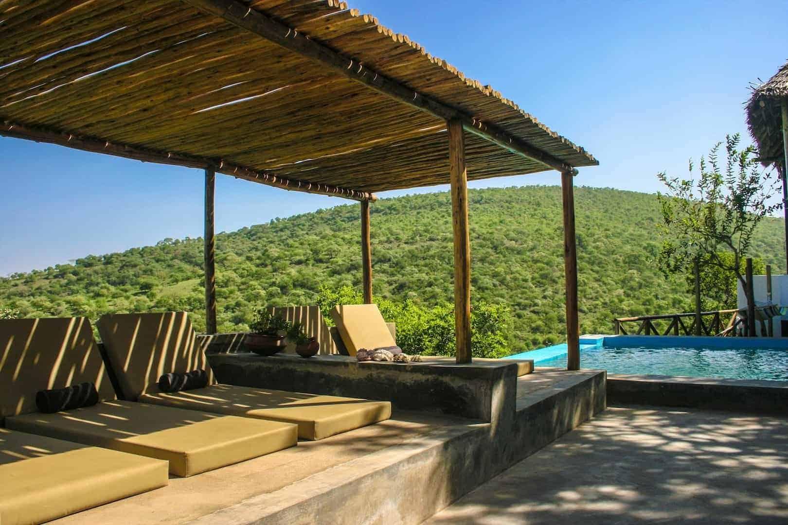 sunbeds pool